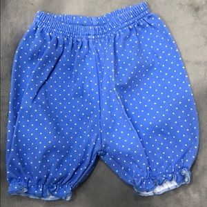 Blue polka dot pants